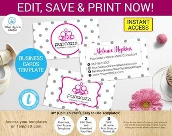 Paparazzi Business Card Printable Paparazzi Cards Template Paparazzi Jewelry Paparazzi Marketing Paparazzi Branding Paparazzi Accessory