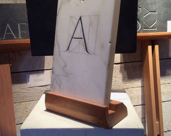 Marble sculpture, hand carved letter in marble, wall sculpture, personalized letter, stone, stone sculpture, architect gift, marble, gift