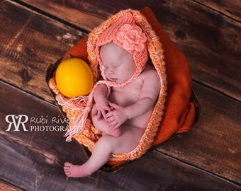 Knitted Nice Hat, Photo Prop for newborn, Handmade Photography baby knitting, Newborn Baby Outfit