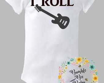 I Rock, I Roll, Musician, Guitar, Twin Set, Makes An Adorable Baby Shower Gift!