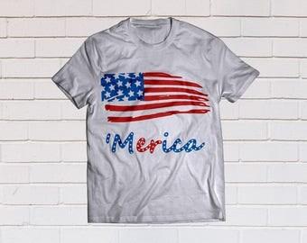 Merica svg, American flag svg, Four of july svg, America svg, Usa flag svg, SVG Files, Cricut, Cameo, Cut file, Clipart, Svg, DXF, Png, Eps