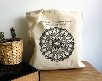 Bag / Tote bag organic cotton / Mandala