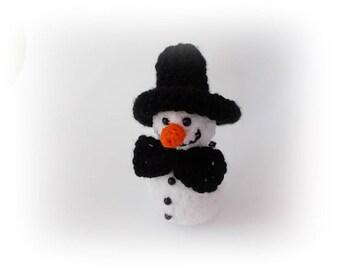 Mr Snowman crochet, Snowman ornaments, Christmas decoration, Christmas gifts, Amigurumi Snowman, Christmas Ornament, Knit snowman