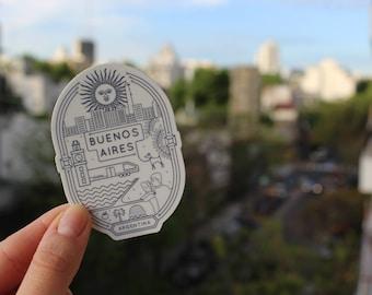Buenos Aires Decal - Buenos Aires Vinyl Sticker - Buenos Aires - Laptop Sticker - Argentina