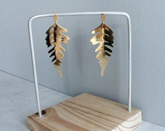 Blecnum - gold platted earrings