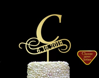 c cake topper, cake toppers for wedding gold, wedding cake topper date, rustic cake topper silver, letter cake topper, cake topper c, CT#163