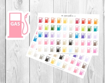 Gas Planner Stickers for use with Erin Condren Life Planner™, Happy Planner, Recollections Planner