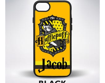Hufflepuff Crest with Your Name Custom Harry Potter Phone Case for iPhone 6 iPhone 7 Plus iPhone 7 iPhone 5 iPhone 6 Plus iPhone SE Samsung