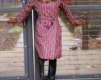 This Amara African print coat