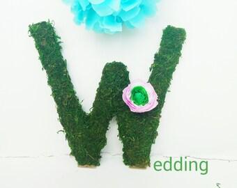 moss letter, moss initial, wedding letters, grass letter, Moss decorations, moss letter large, wedding grass sign, moss logo, moss decor