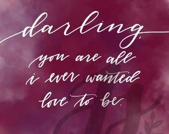 Darling Quotation Digital Print