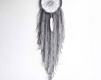 Grey Dream Catcher, DreamCatcher, Bedroom Decor, Wall Hanging, Tapestry, Nursery Accessories, Boho Wall Decor, Bohemian Room Decor, Home