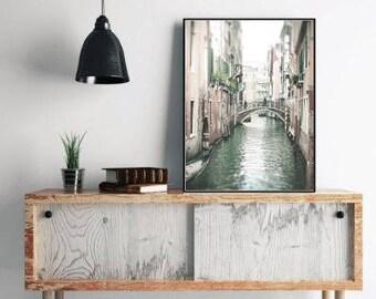Venice Photography, Venice Canal, Italy Art Print, Italian Decor, Venice photo, Venice print, Europe print, large wall art