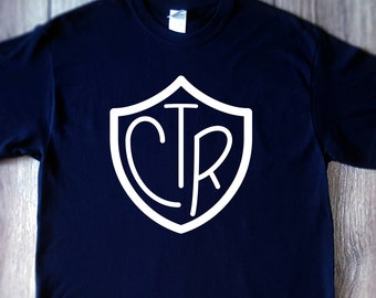CTR shirt, lds, mormon, choose the right, shirt for primary, graphic tee, gifts under 20,
