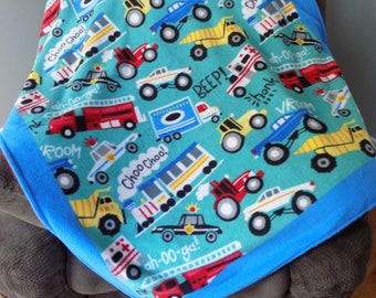 Car and Truck Fleece Blanket - Cars & Trucks Fleece Blanket