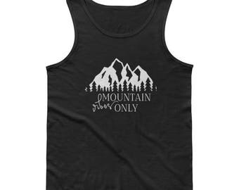 Mountain Vibes Only Unisex/Mens Tank with White Writing