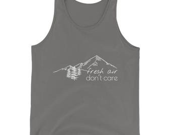 Fresh Air Don't Care|Mountain T-Shirt|Colorado Shirt|Colorado T Shirt|Camping Shirt|Camping Gift|Camping Gear|Gifts for Men|Gifts for Him