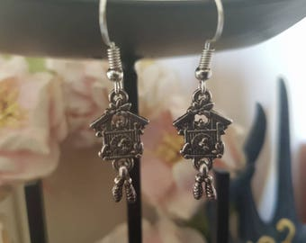 Cuckoo Clock Earrings
