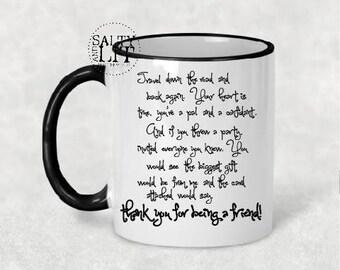 Golden Girls theme song coffee mug,lyrics on mug,songs,golden girls mug,bff gift,friend gift,theme song mug,theme song, golden girls mug