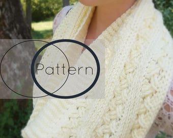 Cowl Crochet Pattern/ The Dublin/ Infinity Scarf Crochet Pattern/ Celtic Weave Crochet Pattern/ Diagonal Weave Crochet Pattern