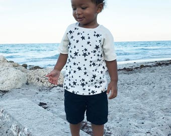 Stars Galore//Organic Cotton//kids T-shirt's//tops//raglan T-shirt