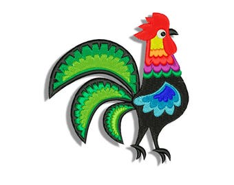 Rooster Embroidery designs - Machine embroidery design