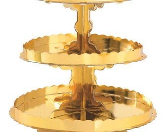 Gold Foil Treat Stand/ Gold Party Treat Stand/ Gold Cupcake Stand/ Gold Party Supplies
