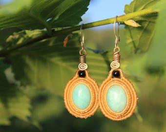 Exclusive Amazonite Macrame Earrings