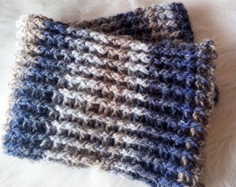 Infinity scarf, unisex scarf, men's scarf, Father's Day gift idea, crocheted wool scarf