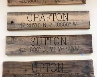 CUSTOMIZED Town Sign, Home Sign, Customized Sign
