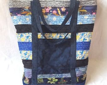 Quilted Tote Bag - April Showers