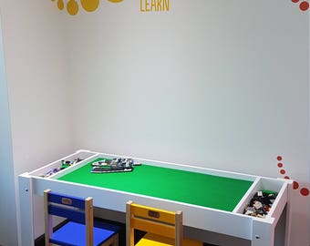 LEGO® Table With Storage, Building Blocks Table, Activity Table, Kids Table,