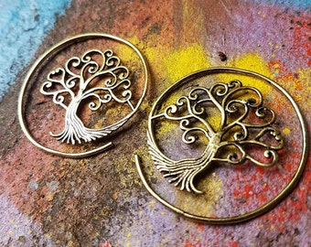 Tree 'Rooted' Brass Ear Weights
