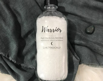 Warrior Bath Blend - Bloodstone, white fir, and lemongrass