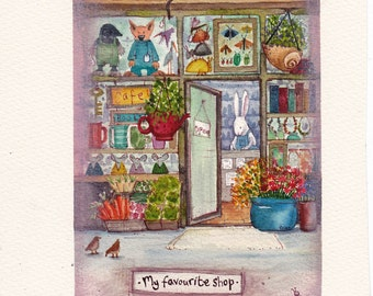 My Favourite Shop, Limited edition Print.