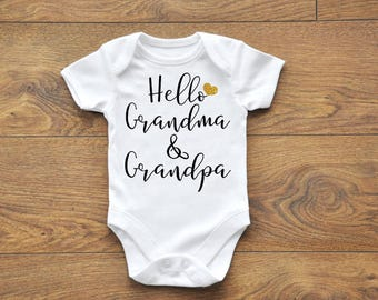 Pregnancy Announcement Bodysuit, Pregnancy Reveal, Grandparents to be, Announcement Onesie, Announcement Bodysuit, For Grandparents
