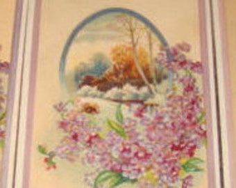 Lot of 3 Vintage Floral/Sceanic Postcards