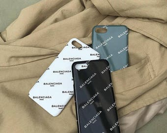 Balenciaga all-over logo printed iPhone Case, unique black white hard case, iPhone5 SE 6 6S 6 Plus 6S Plus 7 Plus 8 plus X Galaxy Samsung LG