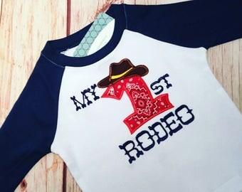 Rodeo birthday ,My first rodeo, 1st birthday, cowboy birthday, rodeo birthday shirt, boys cowboy birthday shirt, cowboy baby boy ,birthday