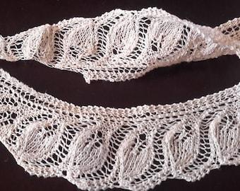 Antique Vintage Crochet trim light beige, sewing trim, craft trim lace