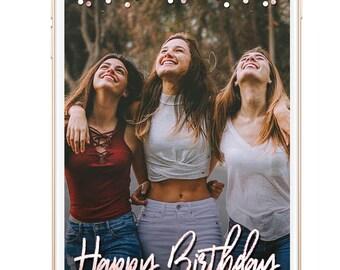 Snapchat Geofilter Birthday, Wedding Snapchat Filter, 30th Birthday for Her, Birthday snapchat filter, Birthday Geofilter, Custom Neon Sign