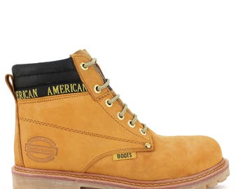 American Boots in honey with steel toe