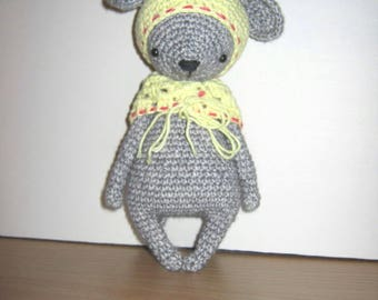 Handmade, Crochet Toy, Soft Toy, Stuffed Animal, Amigurumi Mouse - Tilly
