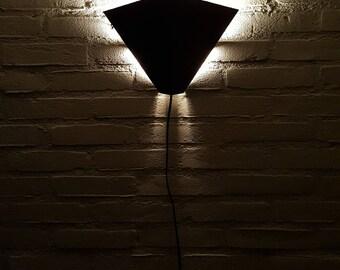 Black metal Wall Lamp Dijkstra (D-L lamps Holland) Tight shapes