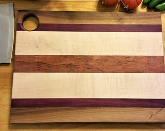 Curly Maple and Bubinga Cutting Board