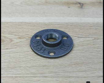 Bride floor 1/2 ' - black cast iron 15/21 mm - 3 holes