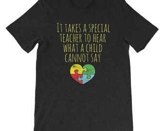 Autism Teacher Shirt - Autism Awareness Shirt - Autism Awareness Month - Special Needs Aspergers Special Education Teacher Shirt - Autistic