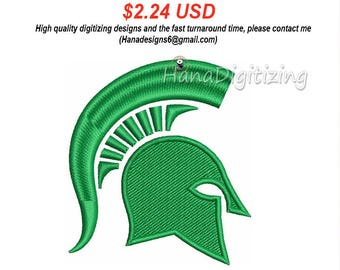 Michigan State Spartans Logo Machine Embroidery Design 4 Sizes