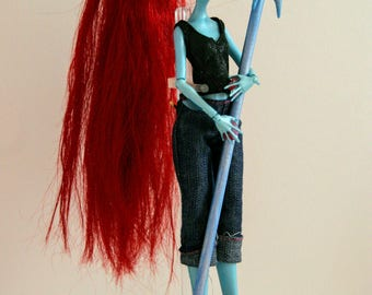 Undertale Inspired Undyne Doll Custom OOAK