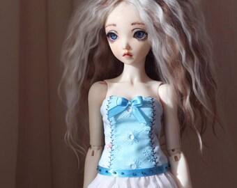 Blue corset for Minifee active-line slim MSD BJD 1/4 girl doll